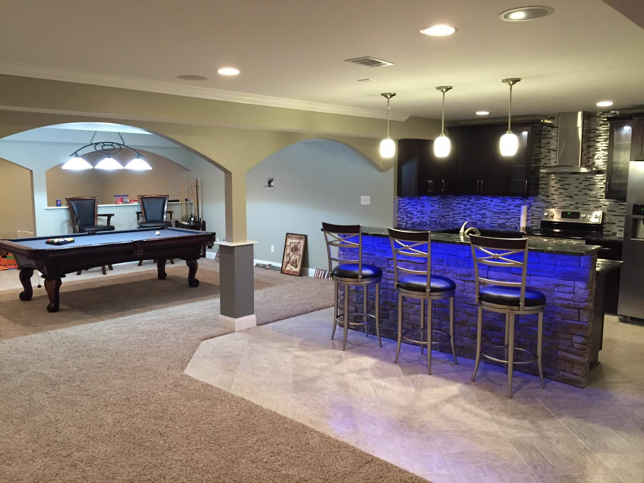 Your basement is the perfect space to tap into for additional living space, a division of the remodeling work that we do.